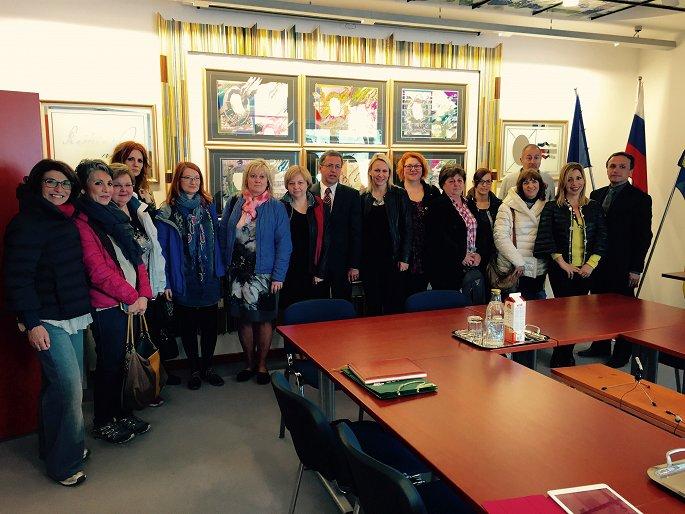 Na obisku pri županu Občine / Visiting the Mayor of the Municipality Žiri