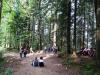 Učenci v jesenskem gozdu
